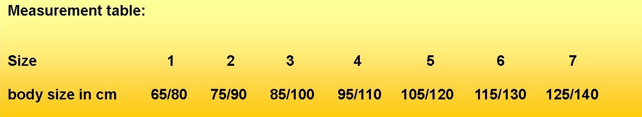 Measurement table CELASTAR